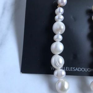 Lele Sadoughi Jewelry - - New lele  sadoughi pearl long earrings